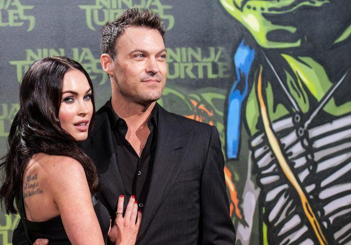 Megan Fox met haar echtgenoot Brian Austin Green