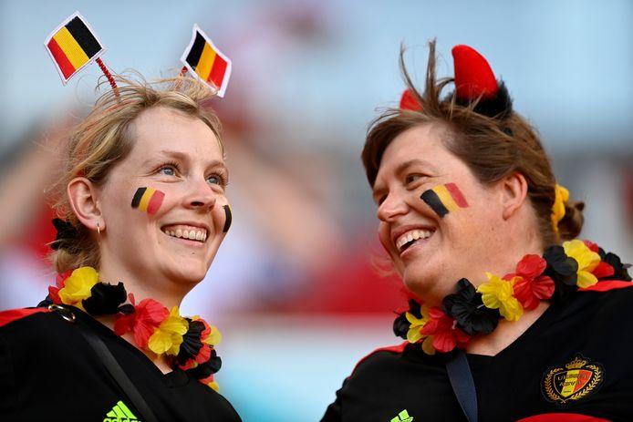 De Rode Duivels spelen op de Vlaamse feestdag op zondag 11 juli mogelijk de EK-finale. Dat zien de fans al helemaal zitten. Bovenstaande is een illustratiebeeld