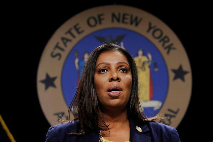 Procureur Letitia James van de staat New York.