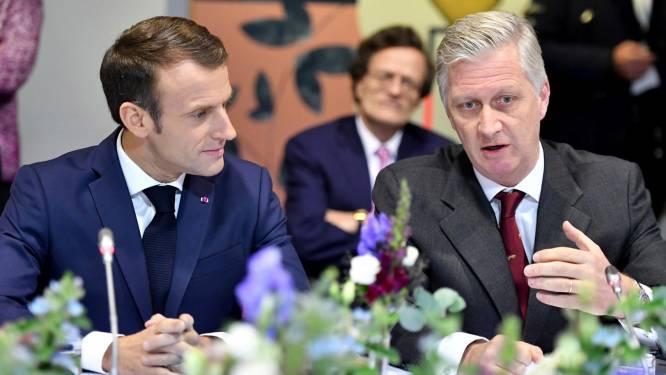 """Le roi Philippe et Macron à Molenbeek: """"Cela me tenait à cœur de vous emmener ici"""""""