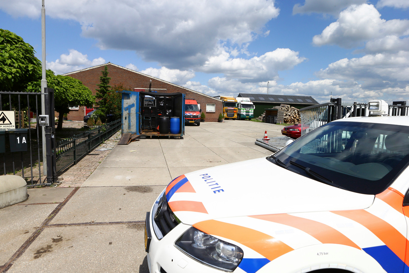 In juni 2020 ontdekt de politie het drugslab in Herwijnen.