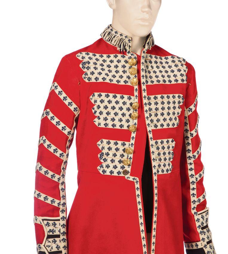 Uniformjas van Mick Jagger, ontwerp M&N Horne, c. 1965. Collection Rolling Stones Archive. Beeld