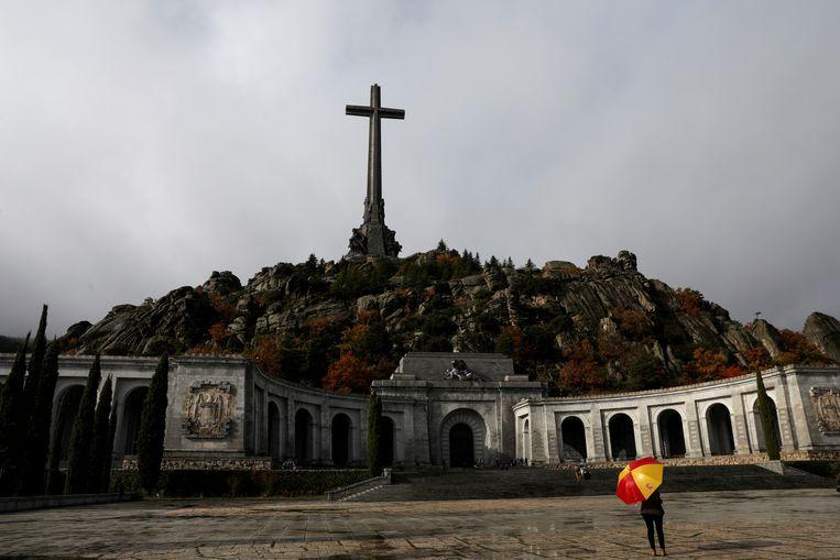 Franco ligt nu nog begraven in het mausoleum in Valle de los Caidos, 66 kilometer ten westen van Madrid. Beeld REUTERS