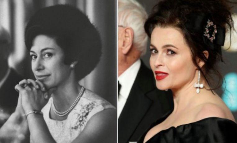 Prinses Margaret en Helena Bonham Carter.