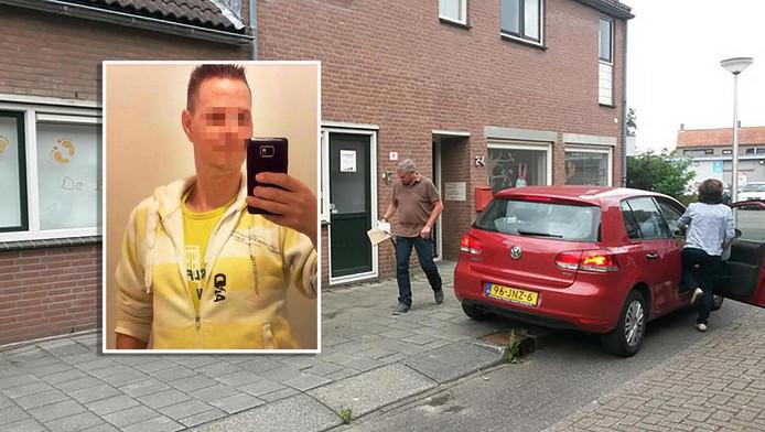 De politie haalt spullen uit het huis van Danny D. Inzet: Danny D.