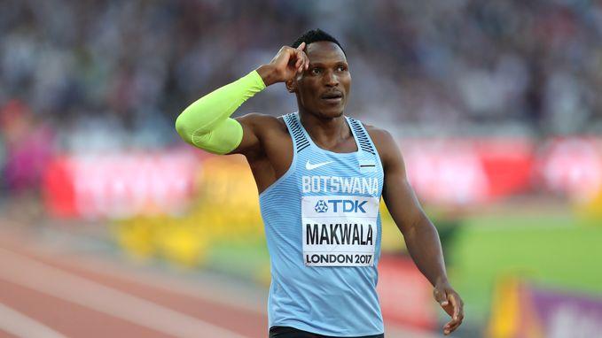 Ook Isaac Makwala getroffen door buikvirus, geen finale 400 meter