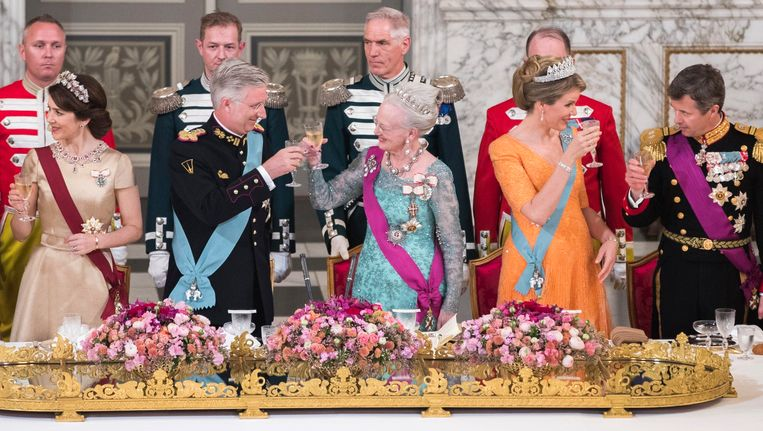 Staatsbezoek van Koning Filip en Koningin Mathilde aan het Koninkrijk Denemarken. Beeld Photo News