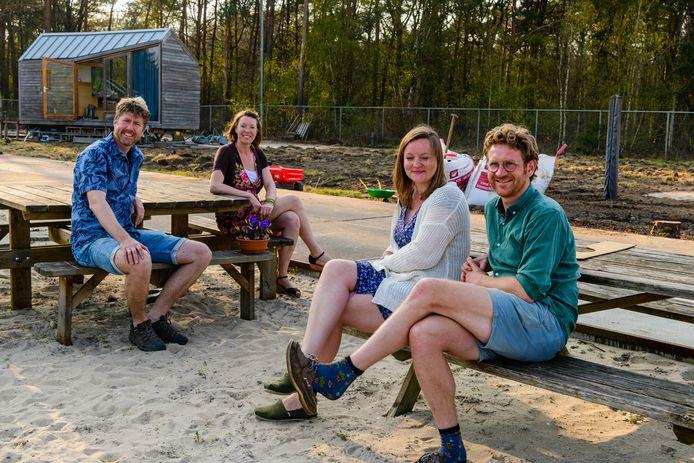 Rik, Liezelotte, Jelte en Annemarie (van links naar rechts)