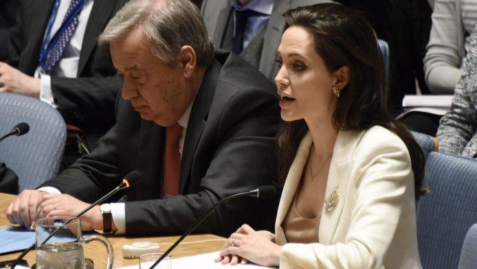 Angelina Jolie bij de VN