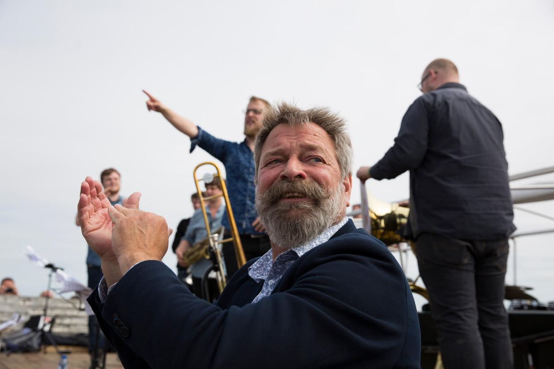 Joop Mulder in 2017, bij zijn afscheid van Oerol.