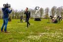 Opnames van de clips van Freedom Song in Den Bosch.