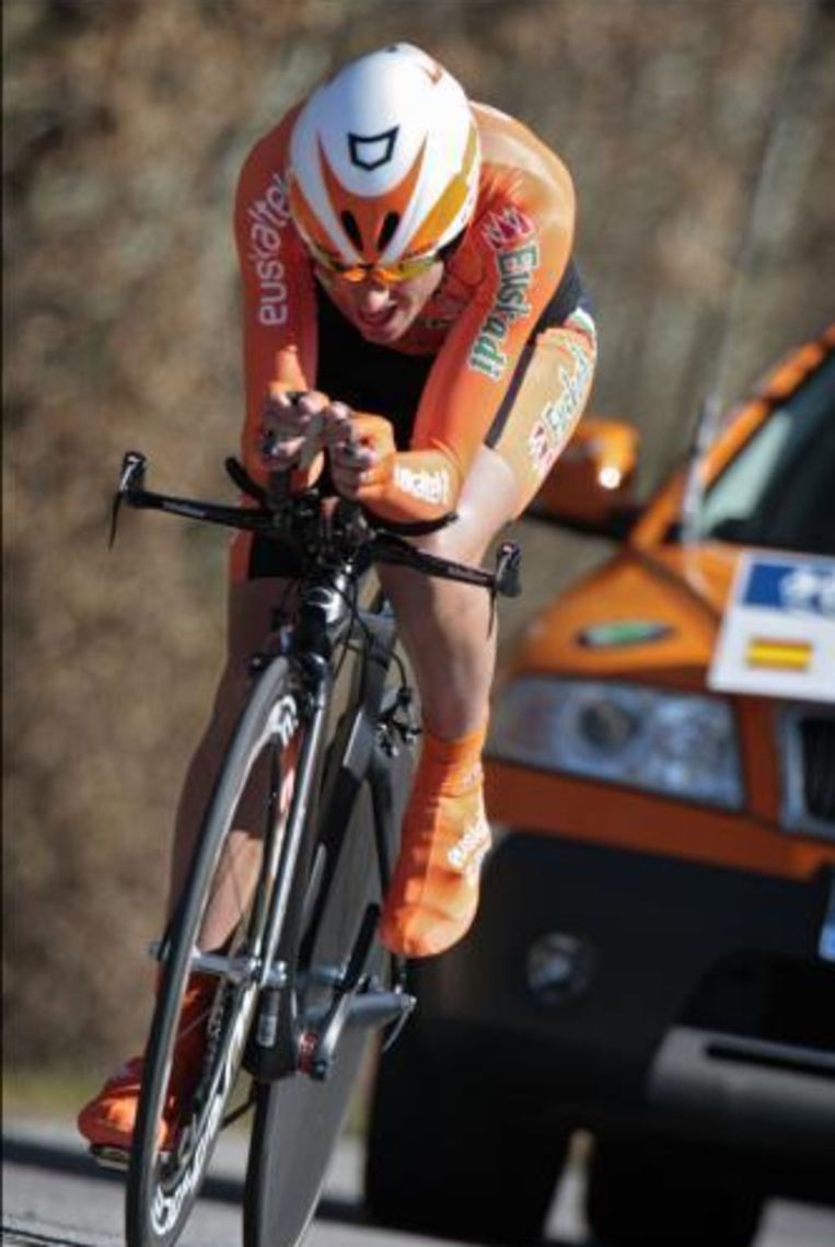 Intxausti is leider in de Ronde van Asturië. Beeld UNKNOWN