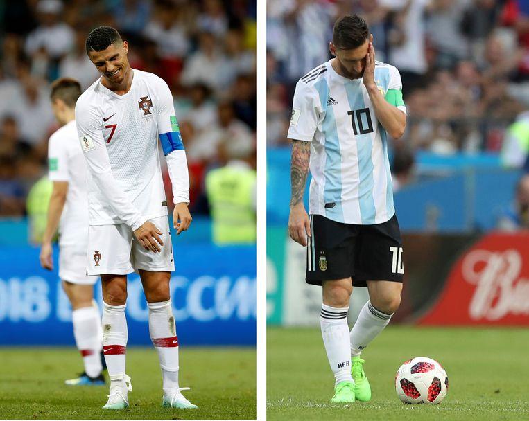 De kans is klein dat we Ronaldo en Messi ooit nog gaan zien op een WK. Beeld AP