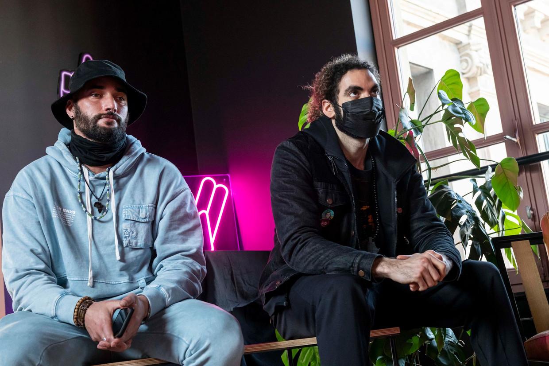 Bilall Fallah (links) en Adil El Arbi. Beeld Dena Huys