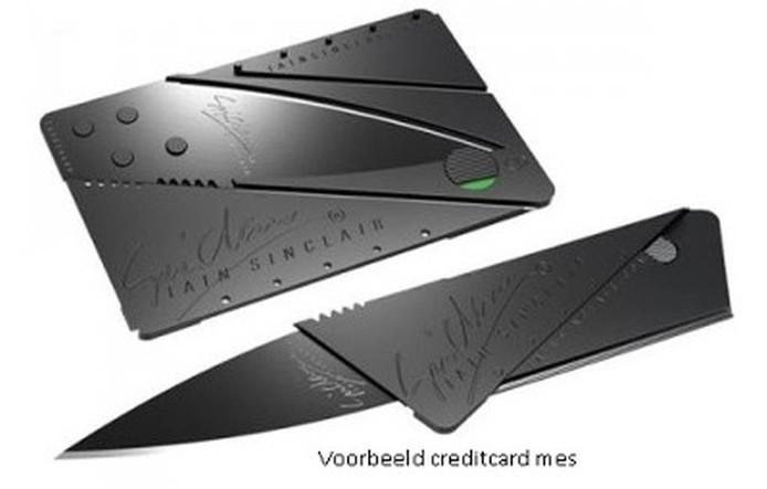 Een creditcardmes. Foto politie