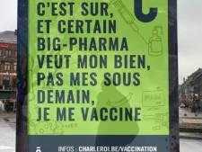 De fausses affiches pour la vaccination à Charleroi font le buzz sur le web