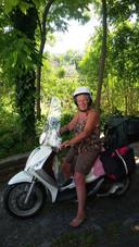 Mariet van Zoggel tijdens een eerdere vakantie van haar.