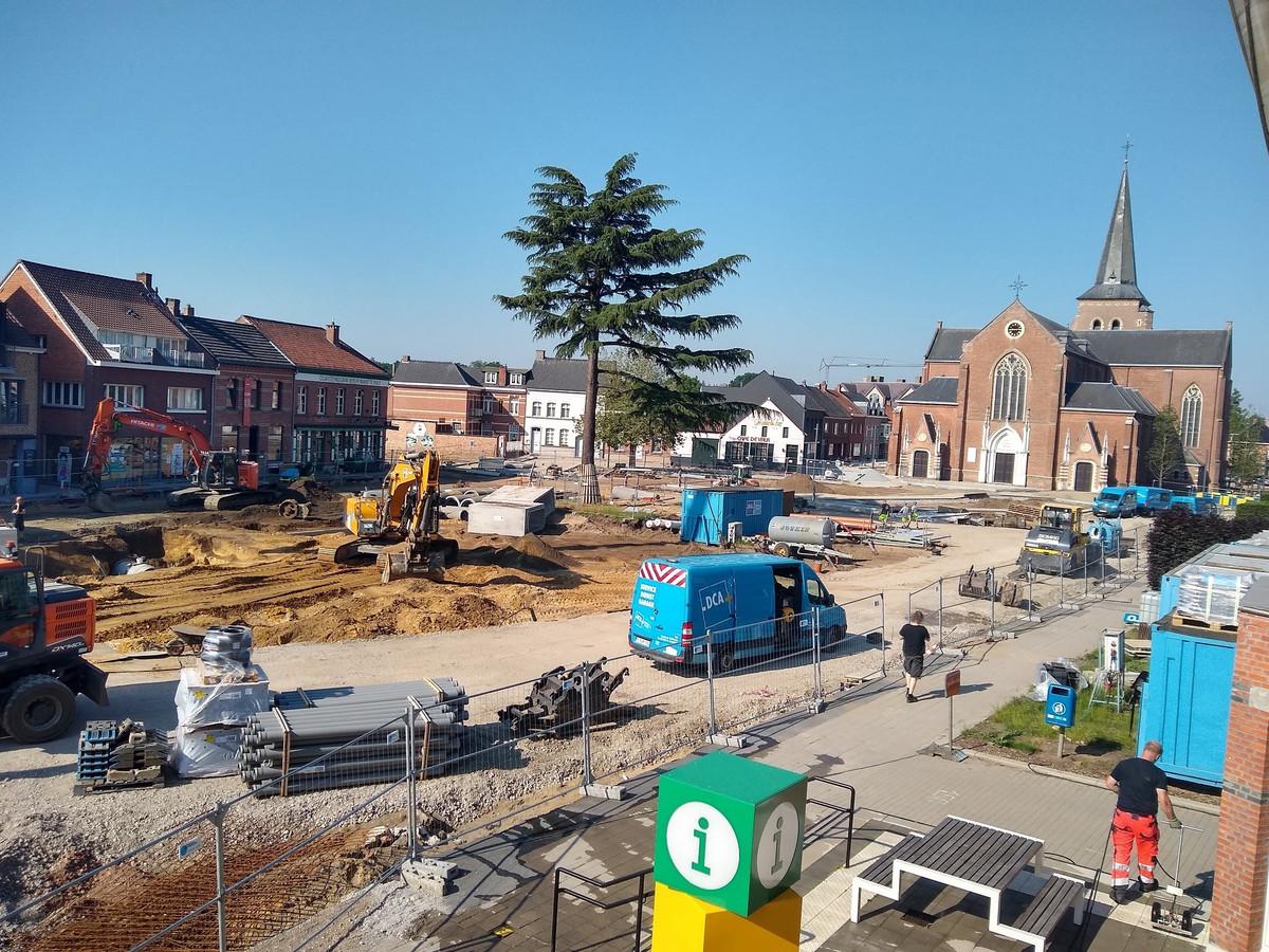 De werf van 'Masterplan De Met' in het centrum van Kasterlee
