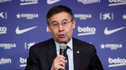 """Barça-voorzitter Bartomeu geeft titel niet op en behoudt vertrouwen in Sétien: """"Hopen dat hij z'n contract uitdoet"""""""