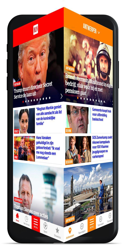 De nieuwe HLN-app telt vier verschillende werelden: nieuws, in de buurt, video en fun.