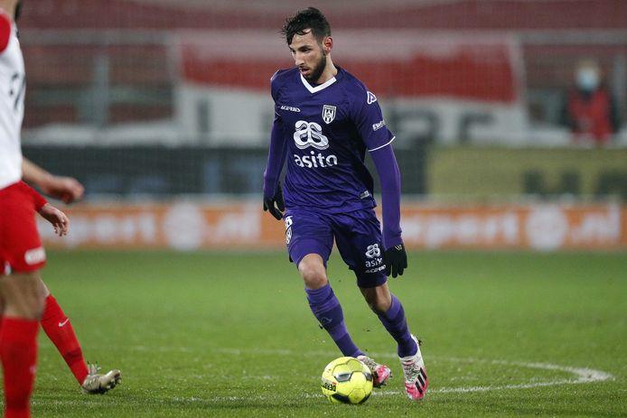 Ismail Azzaoui is woensdag tegen Feyenoord de meest aanvallende middenvelder.