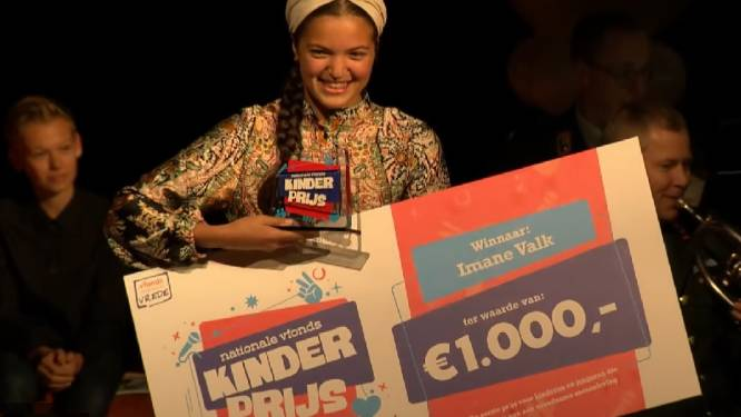 Amsterdamse Imane Valk (13) wint Nationale vfonds Kinderprijs
