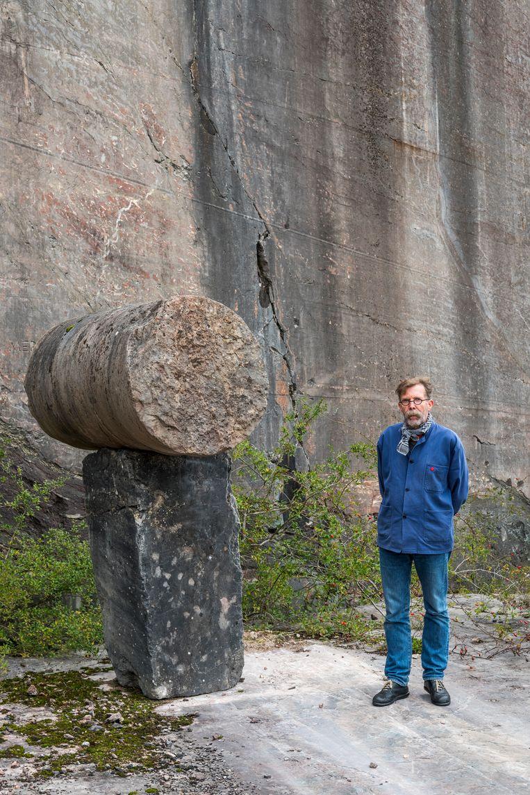 Jos Delbroek: 'Ik wil materialen zichzelf laten zijn, zonder ze te bekleden met bijvoorbeeld pleisterwerk.' Beeld Luc Roymans