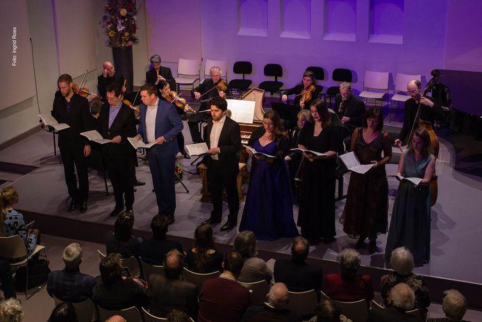Het Apollo Ensemble tijdens een eerder live optreden in de Edesche Concertzaal