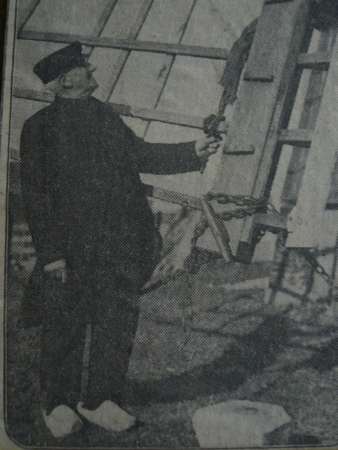Poldermolenaar Jan Molenkamp, de overgrootvader van de kersverse Mierlose molenaar Jan Molenkamp.