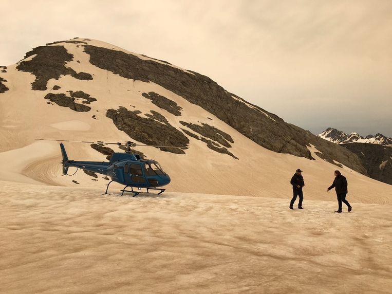 'Gekarameliseerde' sneeuwtop in Nieuw-Zeeland. Beeld via REUTERS