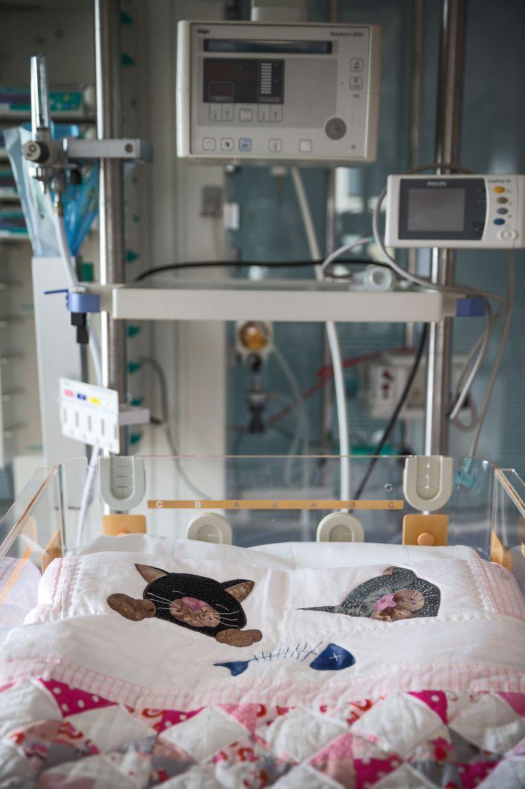 De intensive care voor kinderen in het Emma Kinderziekenhuis in het AMC.  Beeld Hollandse Hoogte