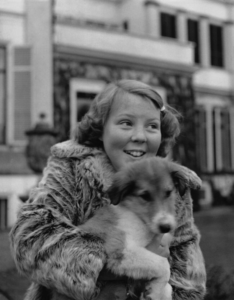 Beatrix met haar border collie Pup Beeld Gamma-Keystone via Getty Images