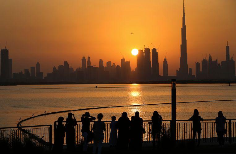 De skyline van Dubai. Beeld AP