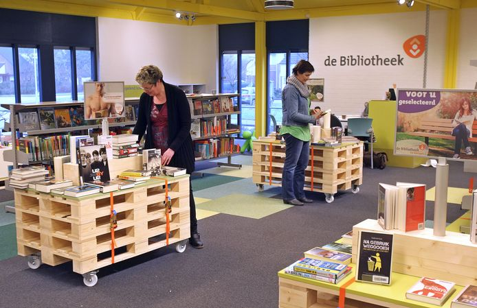 De bibliotheek in Maarheeze (archieffoto).