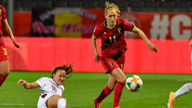"""Janice Cayman geniet na van EK-kwalificatie met Red Flames, maar denkt ook na over toekomst bij Lyon: """"Ik wil graag meer spelen"""""""