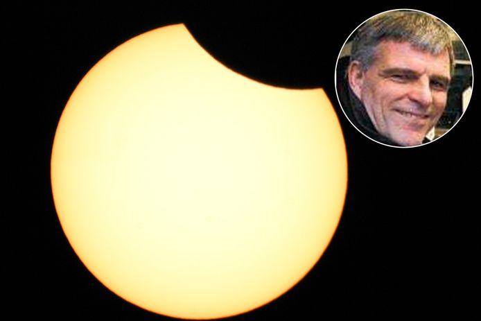 Gedeeltelijke zonsverduistering. (Inzet: Alex Scholten)