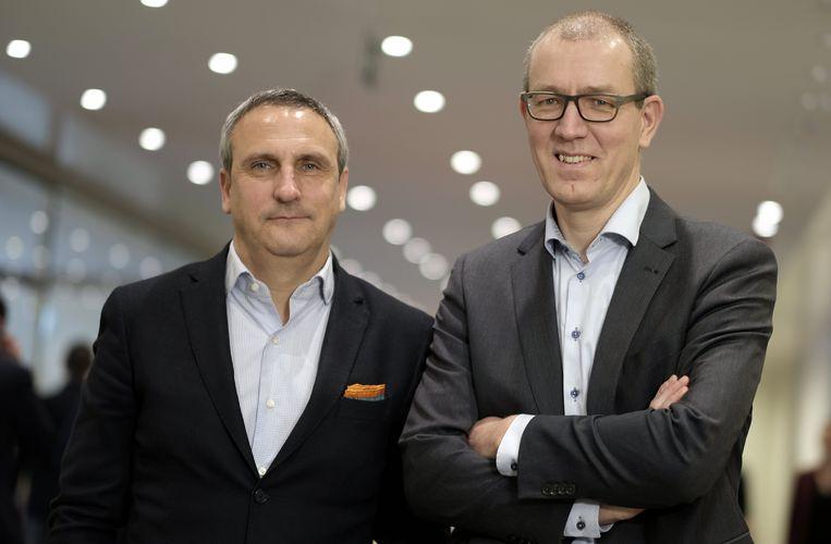 Directievoorzitter Erik Van Den Eynden en financieel directeur Hans De Munck van ING België.
