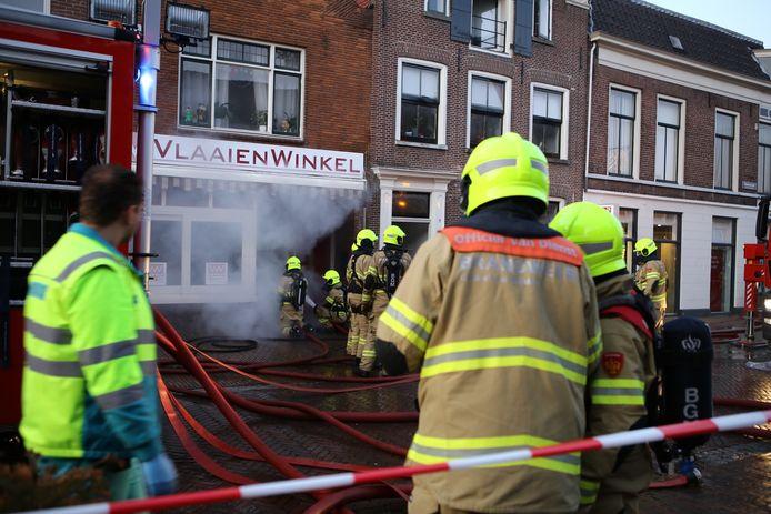 De brand ontstond in een Vlaaienwinkel.