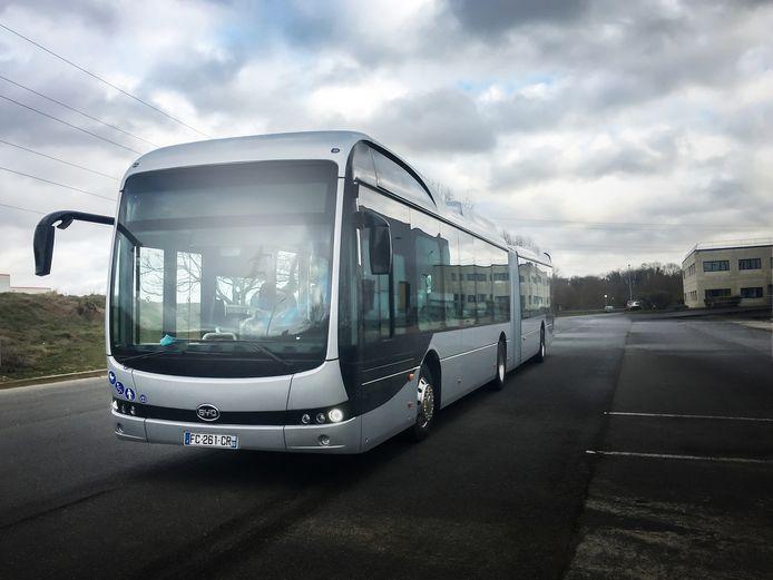 BYD bus voor Keolis voor de regio Orleans.