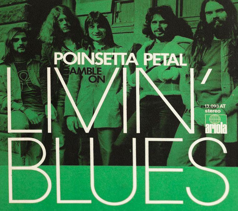 Livin' Blues in 1968. Vanaf links Ted Oberg, John Lagrand, Nicko Christiansen, Cesar Zuiderwijk en Gerard Strötbaum. Beeld