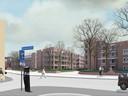 Het nieuwe aanzicht aan de Kloosterstraat.