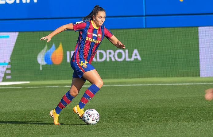 Lieke Martens in actie tegen Sevilla.
