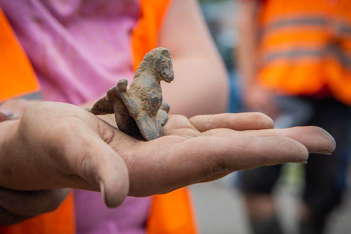 De Romeinse riemgeleider die onlangs in Wijchen werd gevonden.