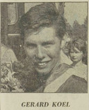 Gerard Koel als olympiër in 1964.