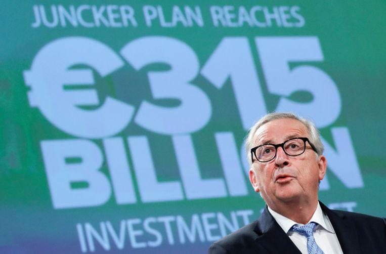 Juncker vandaag op een persconferentie.