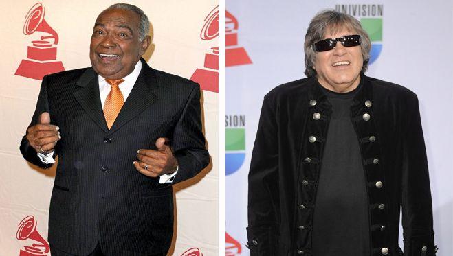 Links de overleden José Luis 'Cheo' Feliciano en rechts José Feliciano de zanger van de kersthit Feliz Navidad.