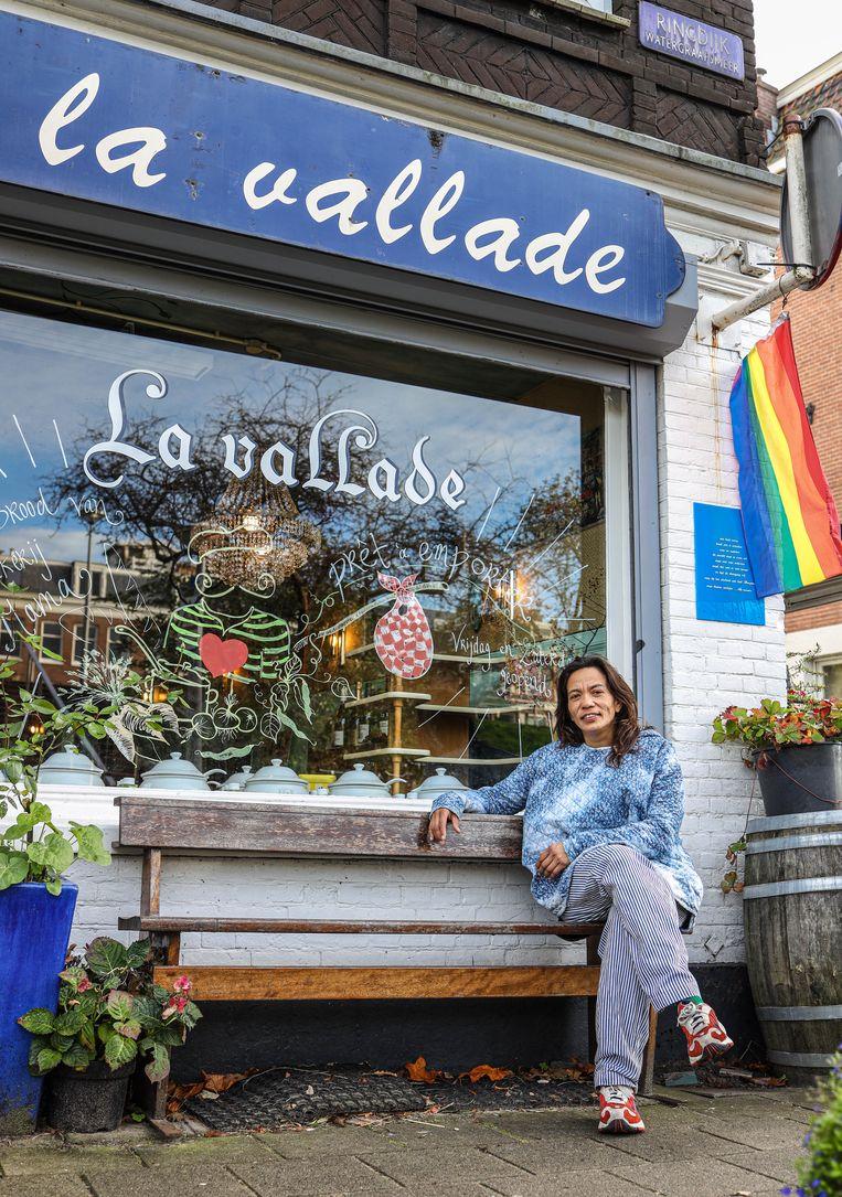 Tara Mulder (48), eigenaar van restaurant La Vallade. Beeld Anouk Hulsebosch
