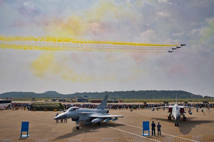 13e Salon international de l'aviation et de l'aérospatiale de Chine à Zhuhai, dans la province de Guangdong, en Chine, le 28 septembre 2021.
