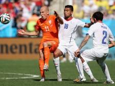Nederlands elftal bestrijdt Mexico in het oranje