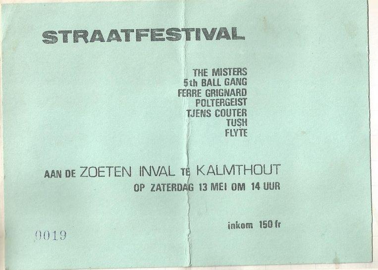 Een inkomticket in 1978, de tweede editie, kostte destijds 150 Belgische frank.